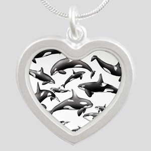 Orca Silver Heart Necklace