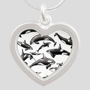 Orca Silver Heart Necklace