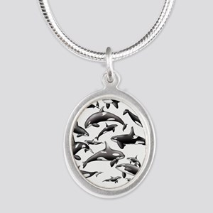 Orca Silver Oval Necklace