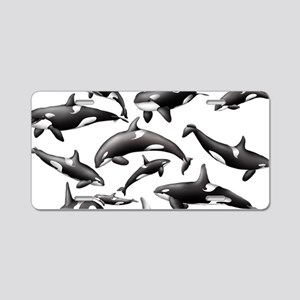 Orca Aluminum License Plate