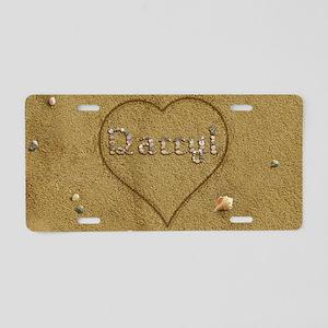 Darryl Beach Love Aluminum License Plate