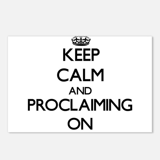 Keep Calm and Proclaiming Postcards (Package of 8)