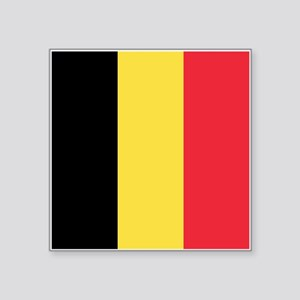 "Belgium Flag Square Sticker 3"" x 3"""