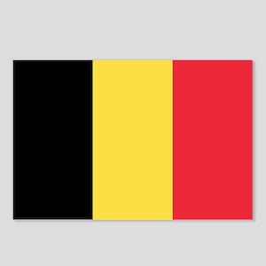 Belgium Flag Postcards (Package of 8)