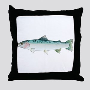 Steelhead rainbow trout Throw Pillow