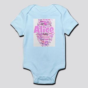 Alice in Wonderland Word Art Body Suit
