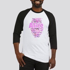 Alice in Wonderland Word Art Baseball Jersey