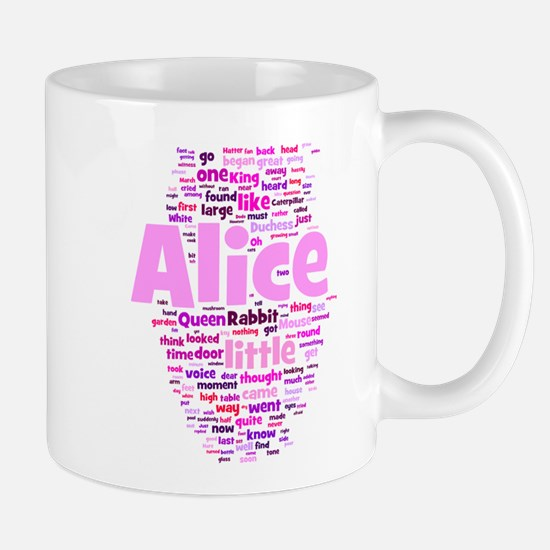 Alice in Wonderland Word Art Mugs