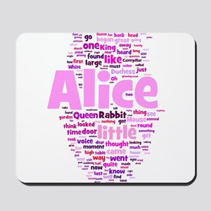 Alice in Wonderland Word Art Mousepad