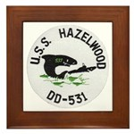 USS HAZELWOOD Framed Tile