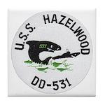 USS HAZELWOOD Tile Coaster