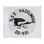 USS HAZELWOOD Throw Blanket