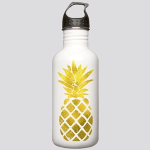 Faux Gold Foil Pineapp Stainless Water Bottle 1.0L
