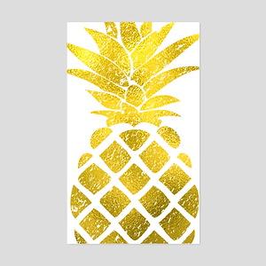 Faux Gold Foil Pineapple  Sticker (Rectangle)