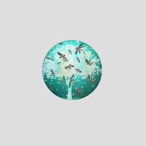Dragonfly Glow Tree Mini Button