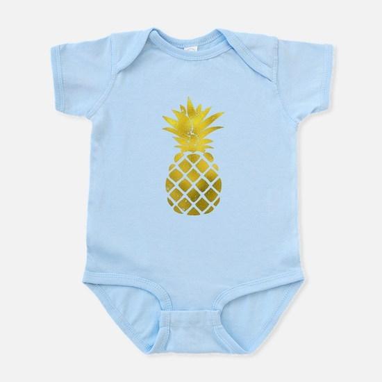 Faux Gold Foil Pineapple Body Suit