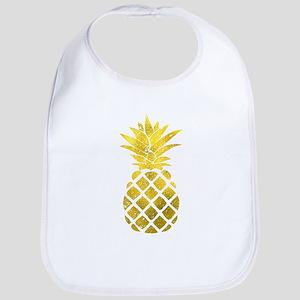 Faux Gold Foil Pineapple Bib