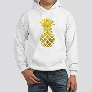 Faux Gold Foil Pineapple Hooded Sweatshirt
