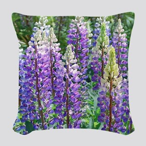Maine Lupines Woven Throw Pillow