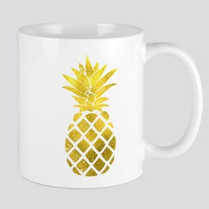 Faux Gold Foil Pineapple Mugs