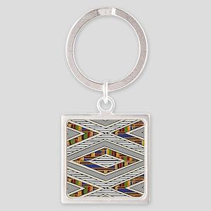 Tribal goodness Square Keychain