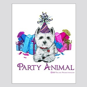 Westie Party Celebration Small Poster