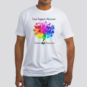 Autism Spectrum Tree Fitted T-Shirt