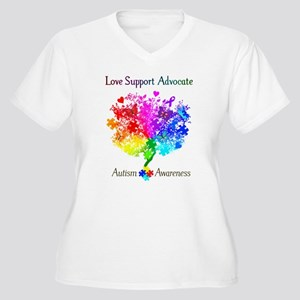 Autism Spectrum T Women's Plus Size V-Neck T-Shirt