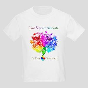 Autism Spectrum Tree Kids Light T-Shirt
