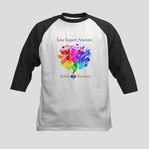 Autism Spectrum Tree Kids Baseball Jersey