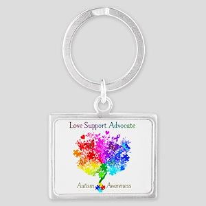 Autism Spectrum Tree Landscape Keychain
