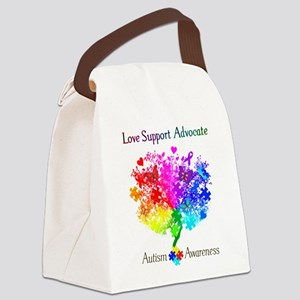 Autism Spectrum Tree Canvas Lunch Bag