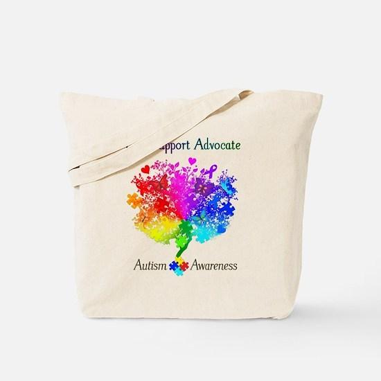Autism Spectrum Tree Tote Bag
