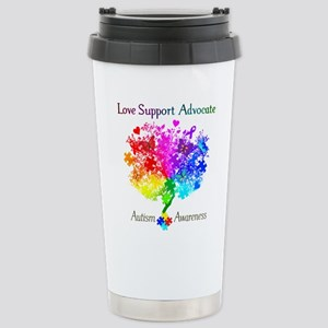 Autism Spectrum Tree Stainless Steel Travel Mug