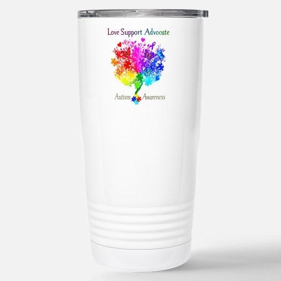 Autism Spectrum Tree Stainless Steel Travel Mug
