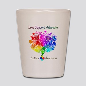 Autism Spectrum Tree Shot Glass