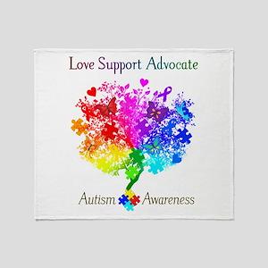 Autism Spectrum Tree Throw Blanket