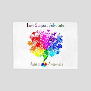 Autism Spectrum Tree 5'x7'Area Rug