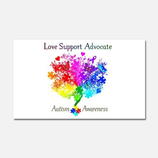 Autism Spectrum Tree Car Magnet 20 x 12