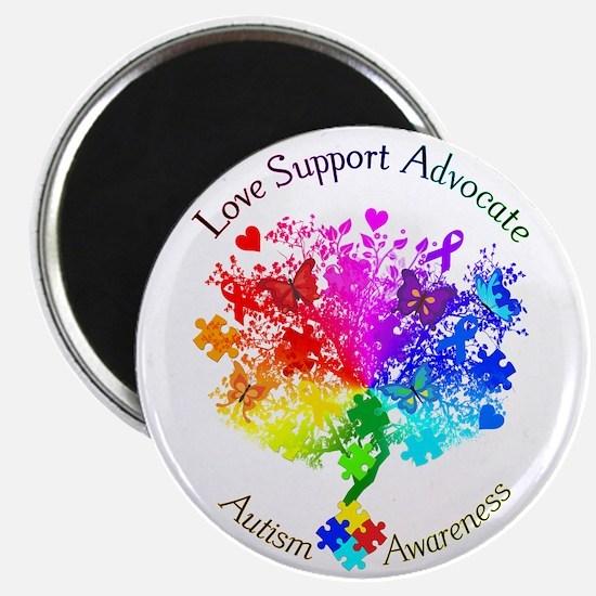 Autism Spectrum Tree Magnet