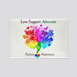 Autism Spectrum Tree Rectangle Magnet