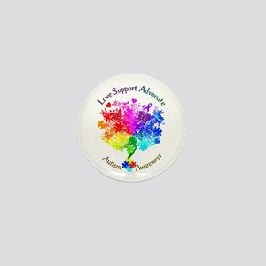 Autism Spectrum Tree Mini Button