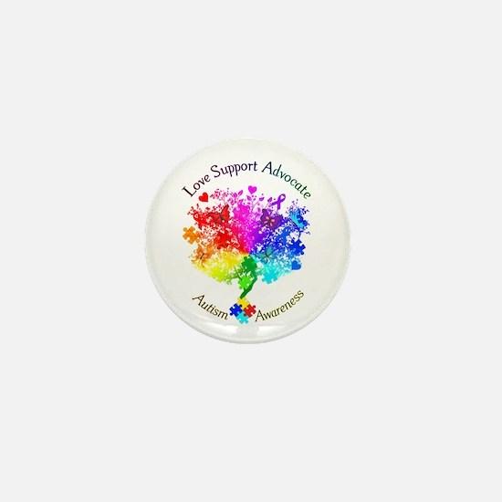 Autism Spectrum Tree Mini Button