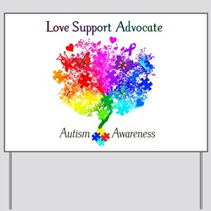 Autism Spectrum Tree Yard Sign