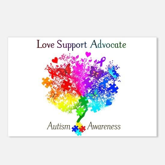 Autism Spectrum Tree Postcards (Package of 8)