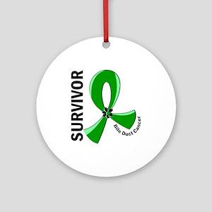 Bile Duct Cancer Survivor 12 Ornament (Round)