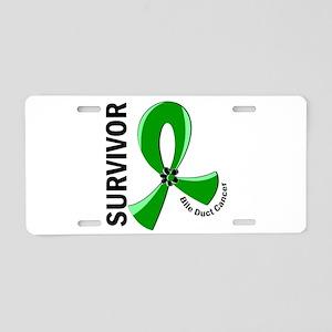 Bile Duct Cancer Survivor 1 Aluminum License Plate
