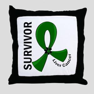 Liver Cancer Survivor 12 Throw Pillow