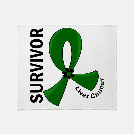 Liver Cancer Survivor 12 Throw Blanket