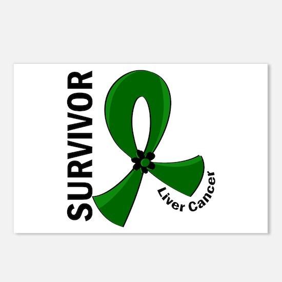 Liver Cancer Survivor 12 Postcards (Package of 8)